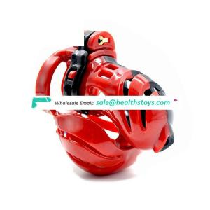 Electric Shock Device Matchable Resin Material Male Chastity Lock Penis Cage