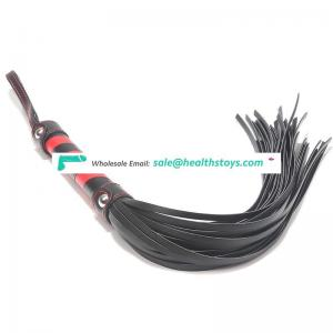 Factory Wholesale Black and Red wrapping PU whip,High Quality SM sex love whip sex game