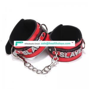 Factory Wholesale Sexy Handcuffs & Anklecuffs Rhinestone leather hot sale Sex Toys for Adult Game