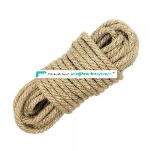 Factory Wholesale Sexy toys 10M jute rope Bondage kit,slave bondage game toys for body kit