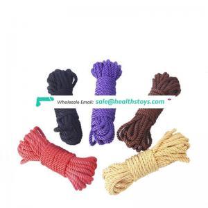 Factory Wholesale bondage rope 5&10 Meters Soft Twisted Cotton Nylon bdsm restraints sex products