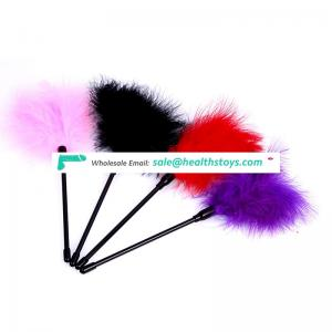 Factory Wholesale hot selling adult toy flirting feather. Adult toys for man.SM product sex love butt game