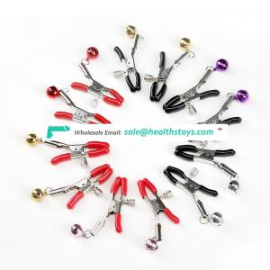 Factory Wholesale simple 1 bell nipple clamp, color can choose,couple