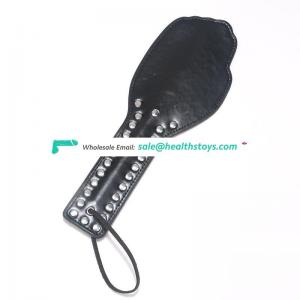 Factory Wholesale sm sex toy for girl Sex rivet paddle ,sex products spanking rivet leather paddle
