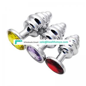 Factory directly sale metal thread butt plug sex product