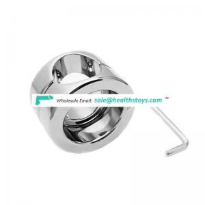 Factory supplier double ring metal penis ring with screw