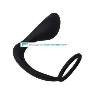 G spot Vibrator Silicone Male Prostate Stimulation Massager Cock Ring Black thumb Butt Plug Anal Sex Toys for Men Sex products