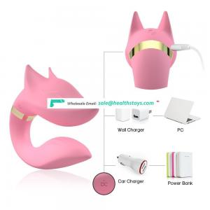 High Quality Rubber 9 Speeds vibration fox Shaped vibrator couple sex toy