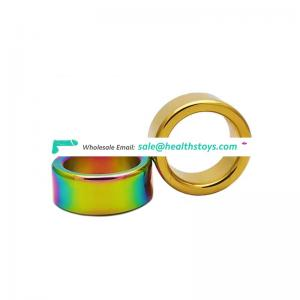 High quality 28mm chromatic and golden cock ring for man
