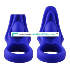 Hot Big Cock Man Sex Toys Waterproof Silicone Lip Shape Cock Ring Vibrator Sex Toy
