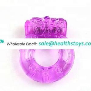 Hot Sale Silicone Vibrating Penis Cock Ring Sex Toys Vibrator