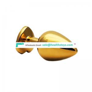 Hot sale anal sex toys golden heart shape anal plug