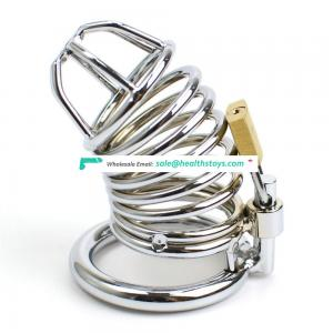 Lockable Cock Ring Stainless Steel Cock Cage Penis Ring Sleeve Lock Cock Chastity Device Cage Men Chastity Belt