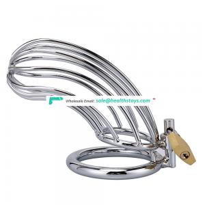 Lockable Stainless Steel Cock Cage Penis  Ring Sleeve Lock Cock Chastity Device Chastity Belt Cock Cage