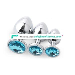 Metal butt plug for woman sex toy cheap metal anal plug for SM
