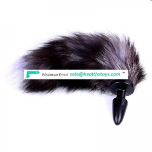 Newest Sex Products Black High Quality Butt Plug Fox Tail