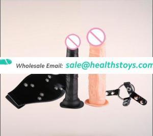 Online Shopping India Female Toys Sex Organs TPE Double Black Dildo Strap on Sex Toys Dildo