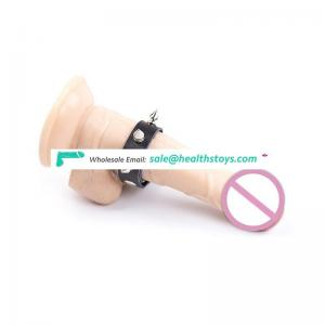 PU Leather Male Penis Cock Ring Harness Men Delay Ejaculation Device