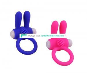Pretty Love Rabbitt ear Premium Stretchy Waterproof Silicone Penis Cock Rings Set For Men Sperm Lock