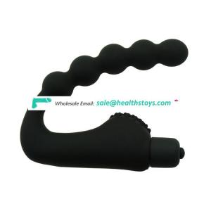 Prostate Massager Anal Beads Butt Plug Vibrator Silicone Vibration Sex Toys for Men Woman