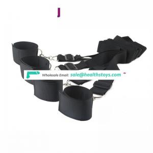 Ribbon belt cuffs strong metal hook adult sm toys bed strap under the bed restraints