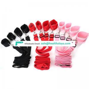 Ribbon belt plush cuffs adult sm toys bed strap sex games bed restraints bondage