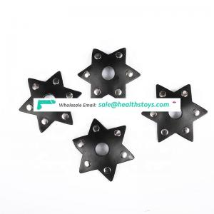 Sex Shop New Products Black Leather Nipple Stickers for women