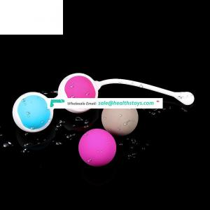 Sex Shop kegel exercise ball Medical Silicone 4 balls sex toy for sex old woman