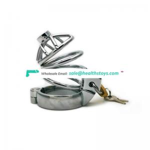 Sex toys sexual  restriction metal chastity lock for men