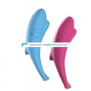 Shark Shape designed penis enlargement silicone sex toy for men glans penis vibrator ring