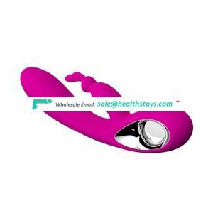 Silicone rechargeable finger motion clitoris rabbit vibrators for women