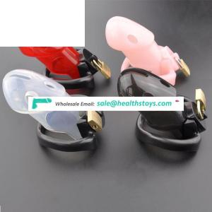 Soft PU Plastic Men Chastity Belt Penis Cage