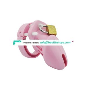 Soft Silicone Chastity Cage Male with Lock