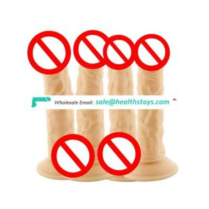 Soft Silicone double layered huge realistic dildos for women elastic silicone dildo artificial penis with suction cup