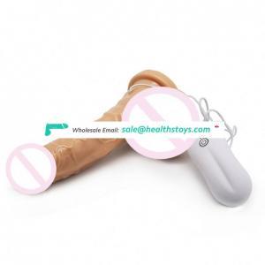 Soft big real skin feeling silicone realistic bullet vibrator dildo