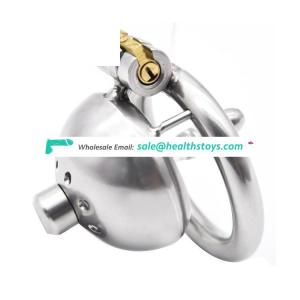 Stainless Small Male Chastity Device Penis Cage with Urethral Tube