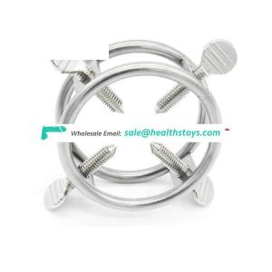 Stainless Steel Cock Ring Male Chastity Device Penis Lock