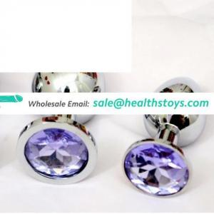 Stainless Steel Diamond Silver Jewelry Vagina Small Size Sex Toys Butt Anal Plug