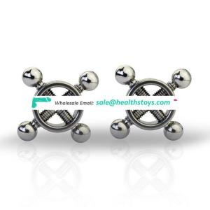 Stainless Steel Erotic Nipple Clamps Kit Sex Toys for Couple