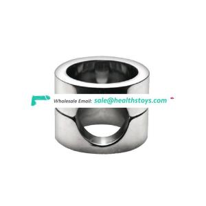Stainless Steel Male Heavy Ball Stretcher Weight Chastity Device Penis Ring