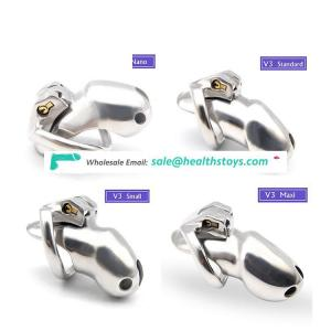 Steel Penis Lock Male Chastity Device Metal Men Bondage Cage