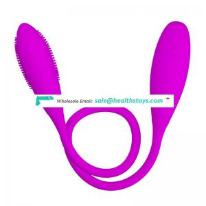 USB charging 7 frequency vibrating double head egg vibrator