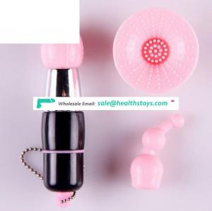 Vibrator sex toys suit 3 different ended head vagina anal nipple vibrator