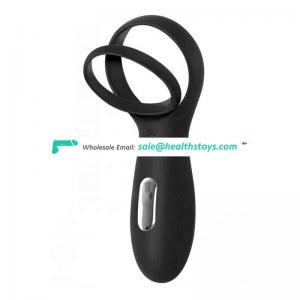 Waterproof rechargeable penis ring vibrating silicon penis ring with 10 modes clitoral stimulate massager sex toys for couples