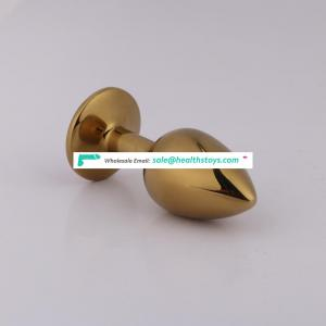 Wholesale Stainless Steel Metal Anal Plug with Metal Material Jewelry Design Metal Butt Plug for female