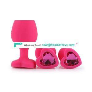 Wholesale large silicone plastic vibrating anal plug sex toys