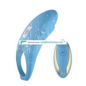 Wireless remote control female C spot stimilation penis sex toys vibrating ring for men