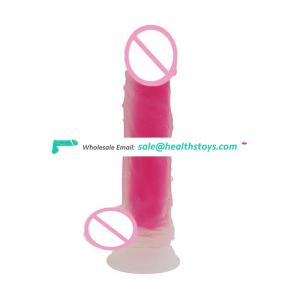 factory sex toy dildo dual layer silicone dildo realistic dildos for women with ball and strong suction cup