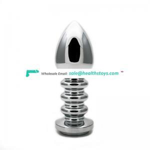 factory supplier metal thread anal plug  for adult masturbation