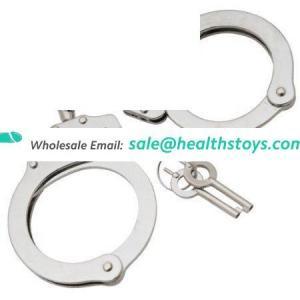sex bdsm bondage restrain slaves set stainless steel sex stainless steel police handcuff toys